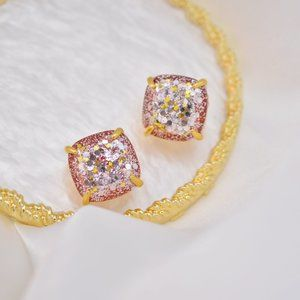 Kate Spade Fine Sequins Square Stud Earrings